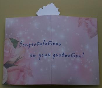 卒業祝いの手作りポップアップカードの外側 by はりの助